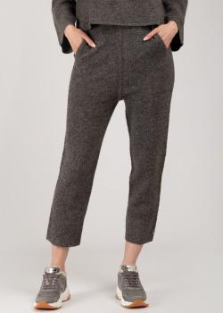 Трикотажные брюки Patrizia Pepe серого цвета, фото