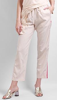 Бежевые брюки Patrizia Pepe с лампасами, фото