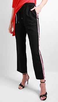 Черные брюки Patrizia Pepe с лампасами, фото