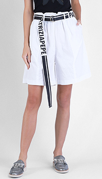 Белые шорты Patrizia Pepe с защипами, фото