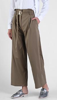 Широкие брюки Patrizia Pepe коричневого цвета, фото