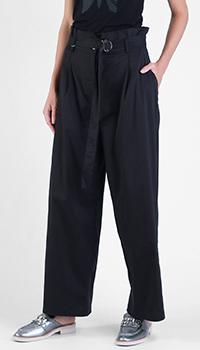 Черные брюки Patrizia Pepe с защипами, фото