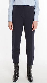 Синие классические брюки Riani с укороченными штанинами, фото