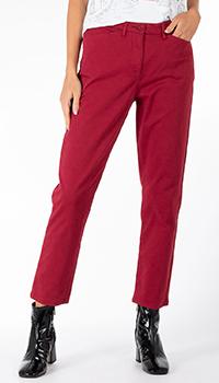Укороченные брюки Riani бордового цвета, фото