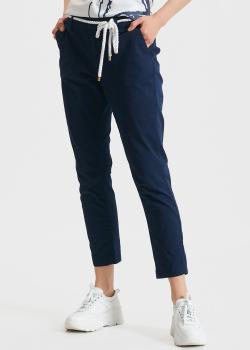 Синие брюки EA7 Emporio Armani с логотипом, фото