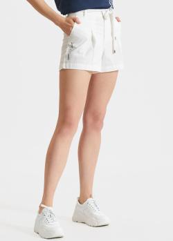 Белые шорты EA7 Emporio Armani с поясом, фото