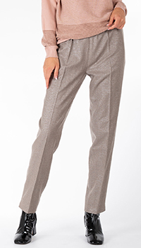 Прямые брюки D.Exterior коричневого цвета, фото