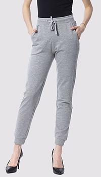 Спортивные брюки Silvian Heach из хлопка серого цвета, фото