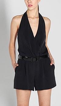 Шелковый комбинезон Polo Ralph Lauren черного цвета, фото