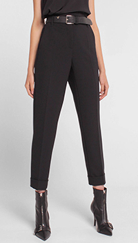 Черные брюки Luisa Cerano со стрелками, фото