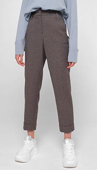 Укороченные брюки Luisa Cerano коричневые, фото