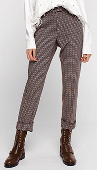Коричневые брюки Luisa Cerano с высокой посадкой, фото
