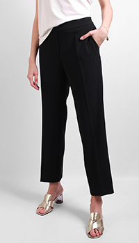 Укороченные брюки Luisa Cerano черного цвета, фото