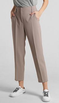 Классические брюки Luisa Cerano коричневого цвета, фото