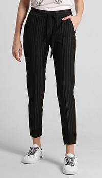 Черные брюки Luisa Cerano в полоску, фото