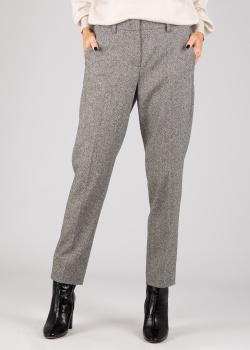 Укороченные брюки Luisa Cerano серого цвета, фото
