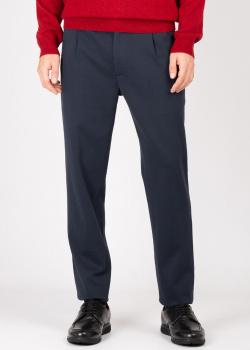 Синие брюки Maerz с защипами, фото
