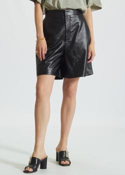 Кожаные шорты-бермуды Miss Sixty черного цвета, фото