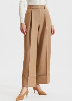Бежевые брюки Miss Sixty с отворотами, фото