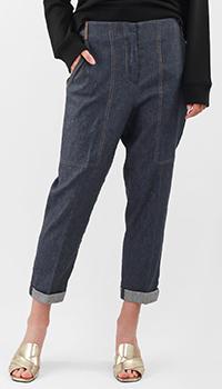 Синие брюки Peserico с накладными карманами, фото