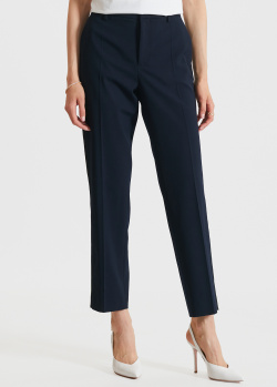 Прямые брюки Red Valentino темно-синего цвета, фото