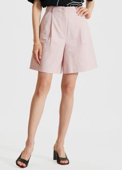 Розовые шорты Max Mara Weekend из хлопка и льна, фото