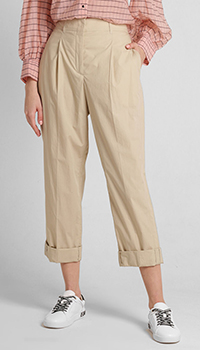Бежевые брюки Dorothee Schumacher с защипами, фото