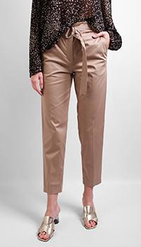 Коричневые брюки Laurel с поясом, фото