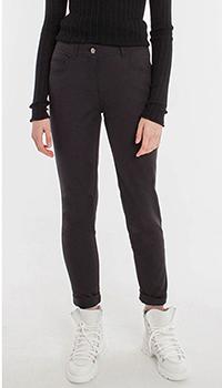 Укороченные брюки Laurel из хлопка черного цвета, фото
