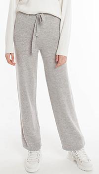 Шерстяные спортивные брюки Laurel серого цвета, фото