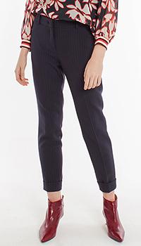 Классические синие брюки Laurel в красную полоску, фото