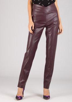 Бордовые брюки Patrizia Pepe из искусственной кожи, фото