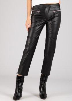 Укороченные брюки Patrizia Pepe из искусственой кожи, фото