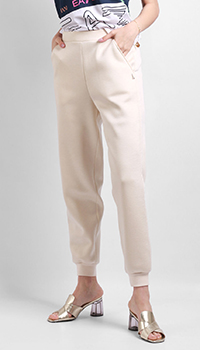 Бежевые брюки Patrizia Pepe на резинках, фото