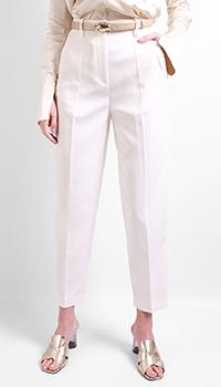 Белые брюки Patrizia Pepe со стрелками, фото