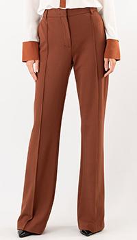 Коричневые брюки Dorothee Schumacher со стрелками, фото