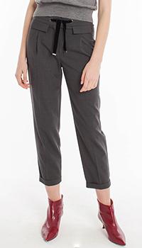 Серые шерстяные брюки Riani на завязках, фото