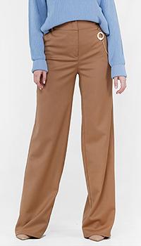 Широкие брюки Cavalli Class с высокой талией, фото