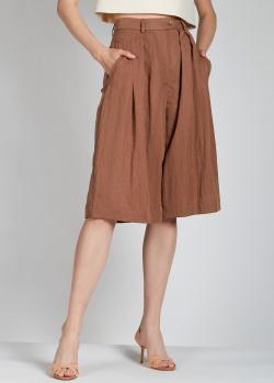 Шорты-бермуды Alberta Ferretti коричневого цвета, фото