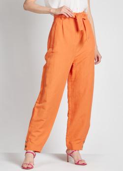 Оранжевые брюки Alberta Ferretti с карманами, фото