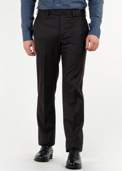 Коричневые брюки Luciano Barbera из шерсти, фото