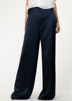 Шелковые брюки Cushnie et Ochs темно-синего цвета, фото