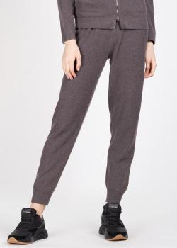 Трикотажные брюки Fabiana Filippi коричневого цвета, фото