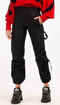 Черные брюки N21 с накладными карманами, фото