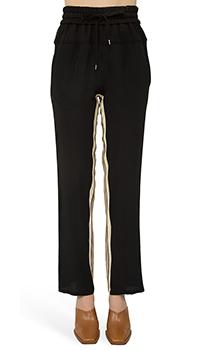 Черные брюки N21 с высокой талией, фото