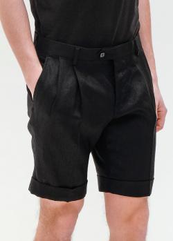 Черные шорты Billionaire с подворотами, фото
