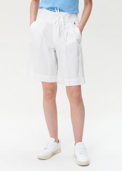 Белые шорты Bogner с защипами, фото