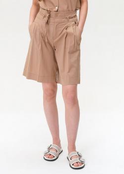 Бежевые шорты Bogner с высокой талией, фото