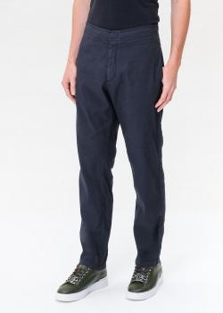 Синие брюки Bogner из льна и хлопка, фото