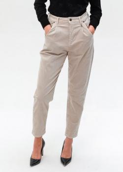Бежевые брюки Bogner с брендовым декором, фото